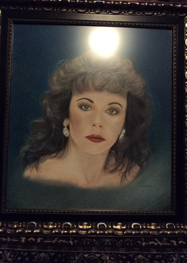 Portrait Painting - Portrait Of Me By Miguel Rodriguez by Anne-Elizabeth Whiteway