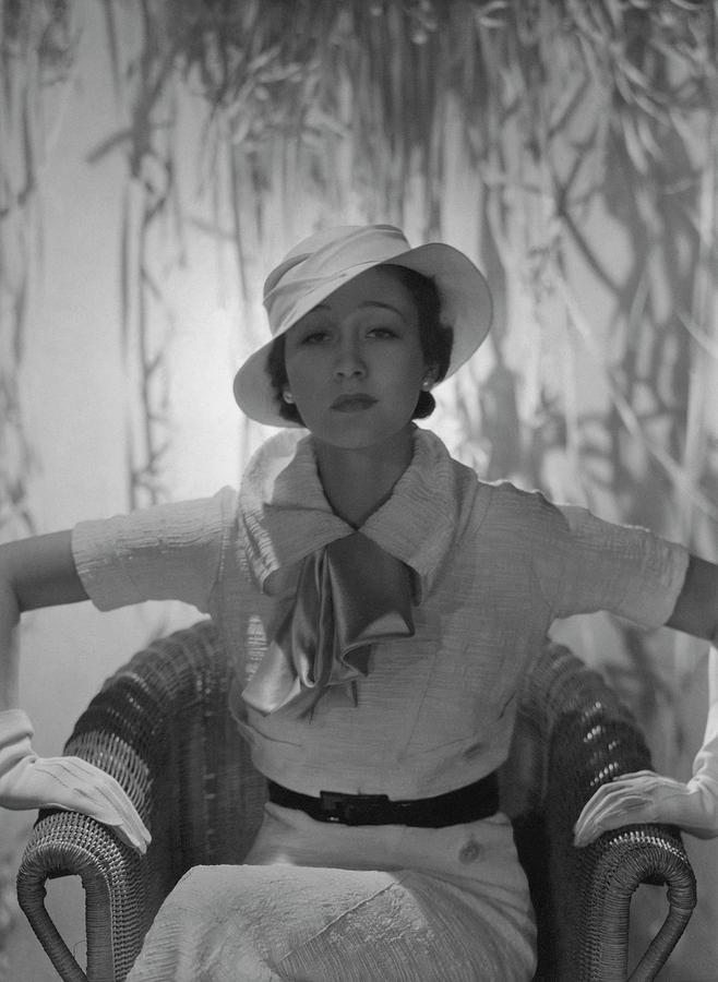 Portrait Of Mlle. Koopman Photograph by George Hoyningen-Huene