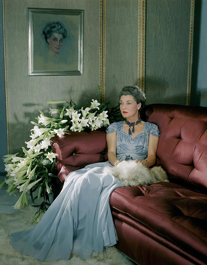 Portrait Of Mona Von Bismarck Photograph by Horst P. Horst