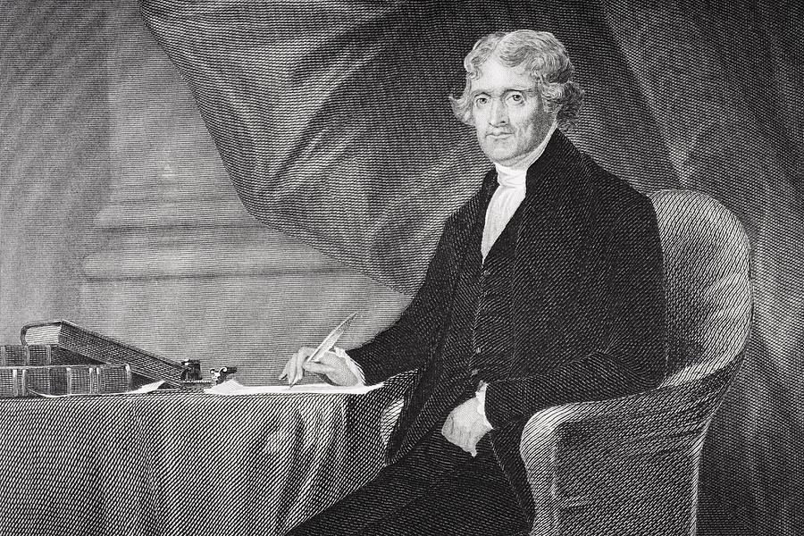 Thomas Jefferson Drawing - Portrait Of Thomas Jefferson by Alonzo Chappel