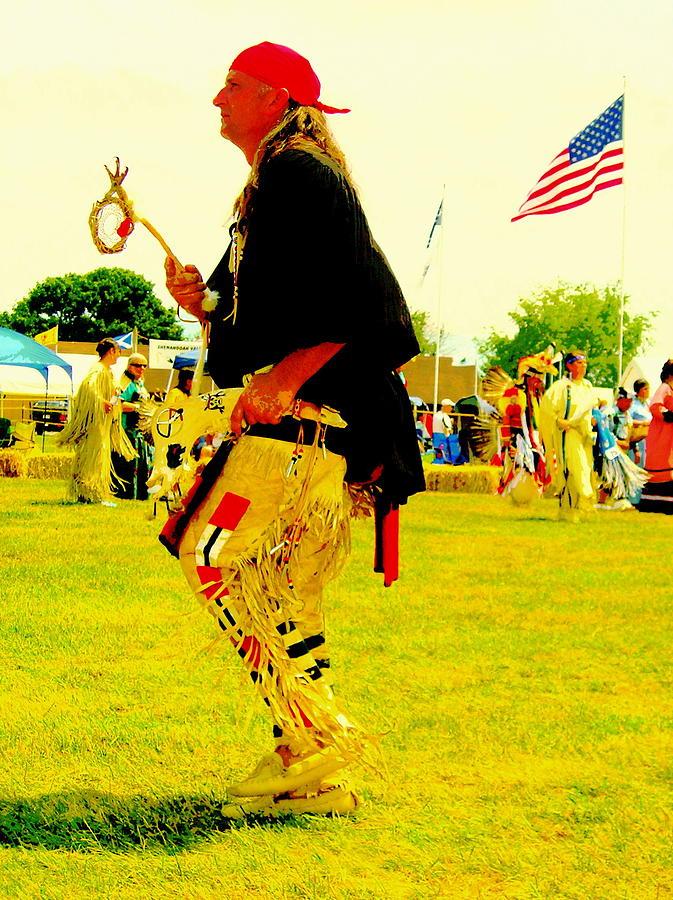 Native American Theme Artwork Photograph - Pow Wow Dancer by Johanna Elik