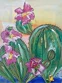 Prickly Pear Mixed Media by Karen Carnow