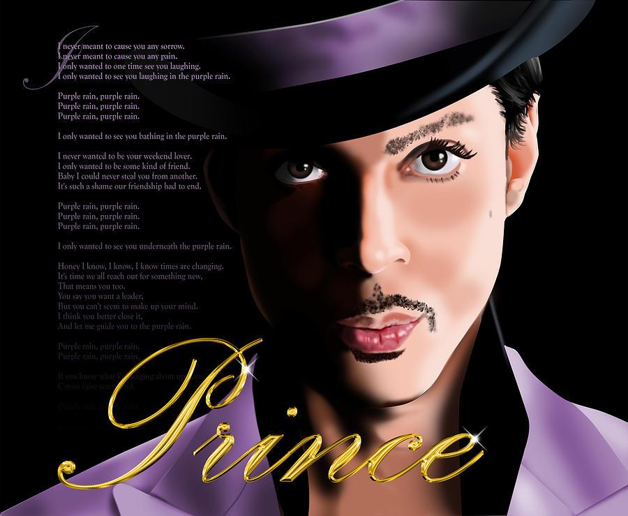 Music Digital Art - Prince by Timothy Ramos