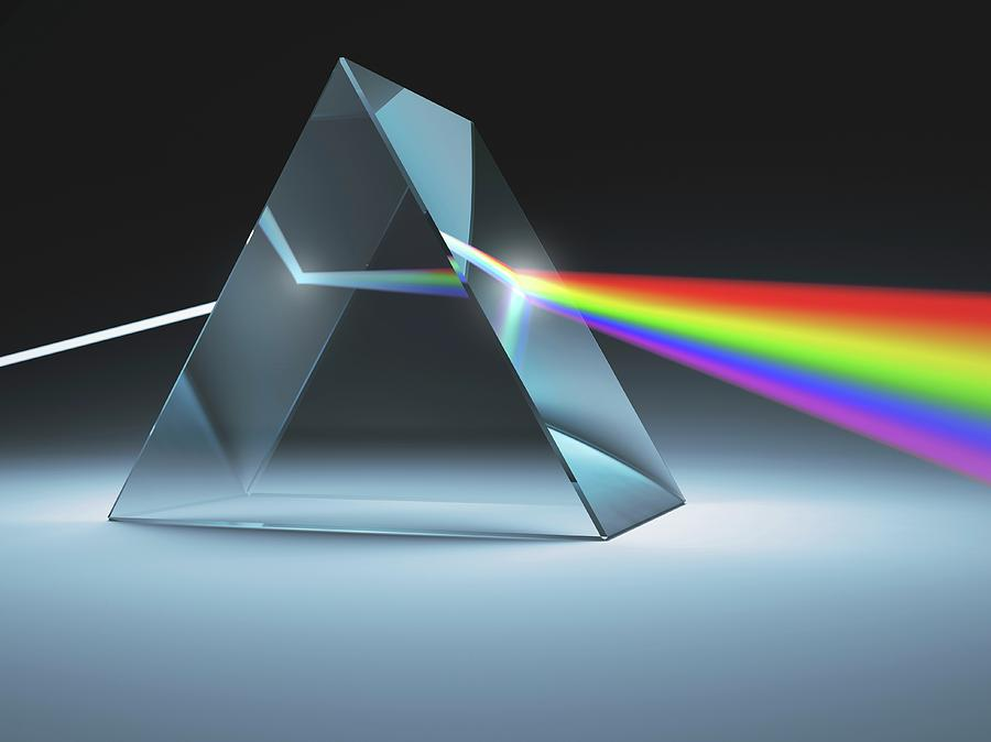 Artwork Photograph - Prism And Rainbow by Ktsdesign