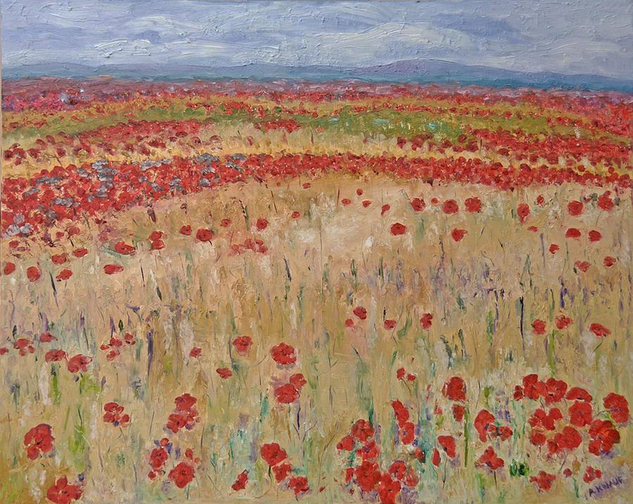 Provence Poppies Painting by Barbara Anna Knauf