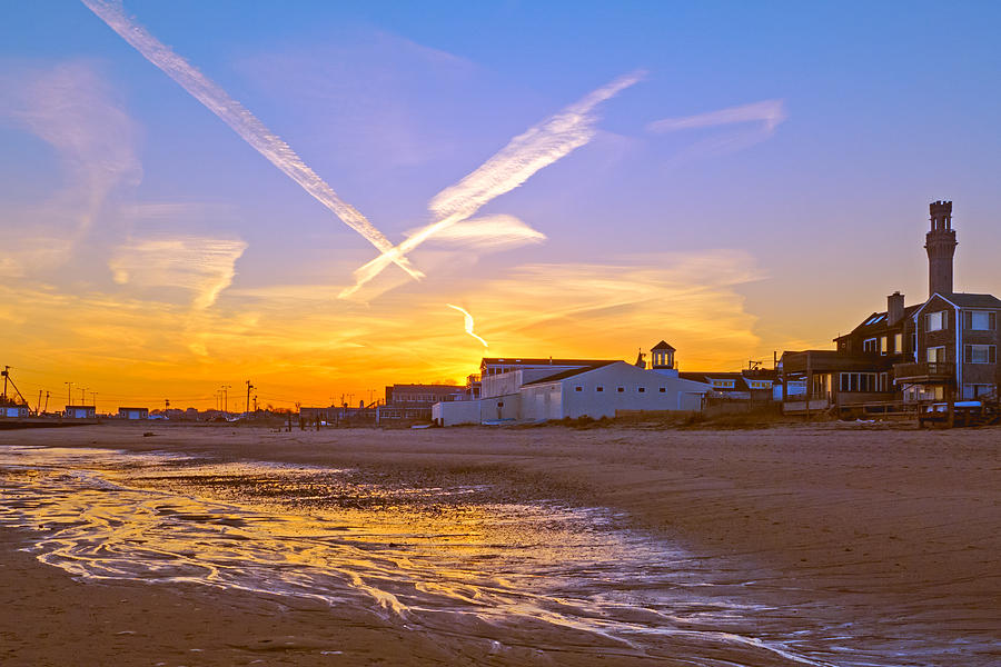 Provincetown Photograph - Provincetown Beach At Sunset by Frank Winters