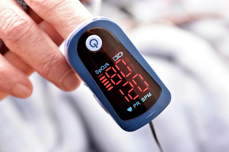 81 Photograph - Pulse Oximeter by Dr P. Marazzi/science Photo Library