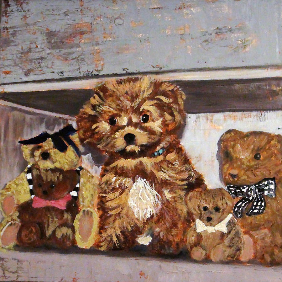 Puppy and Bears by Gaye White