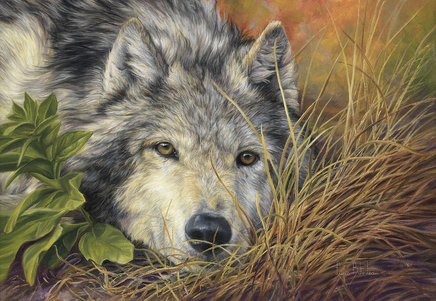 Wolf Painting - Pure Soul by Lucie Bilodeau