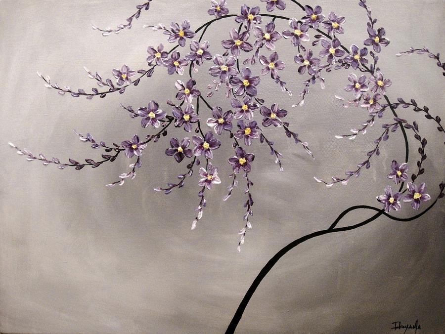 Abstract Painting - Purple Blossoms  by Tomoko Koyama
