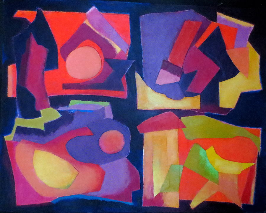Abstract Expressionism Mixed Media - Quartet by Diane Fine