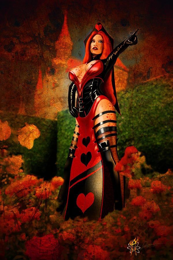 Cars Digital Art - Queen Of Hearts by Doug Schramm