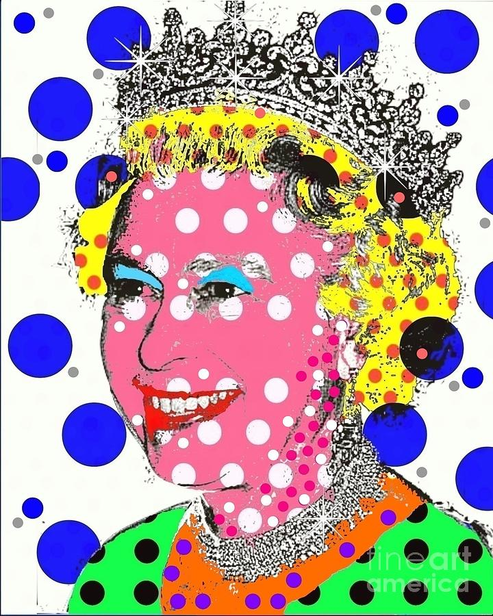 Queen Elizabeth Digital Art - Queen by Ricky Sencion