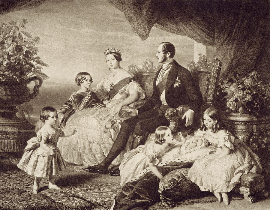 19th Century Painting - Queen Victoria & Family by Granger