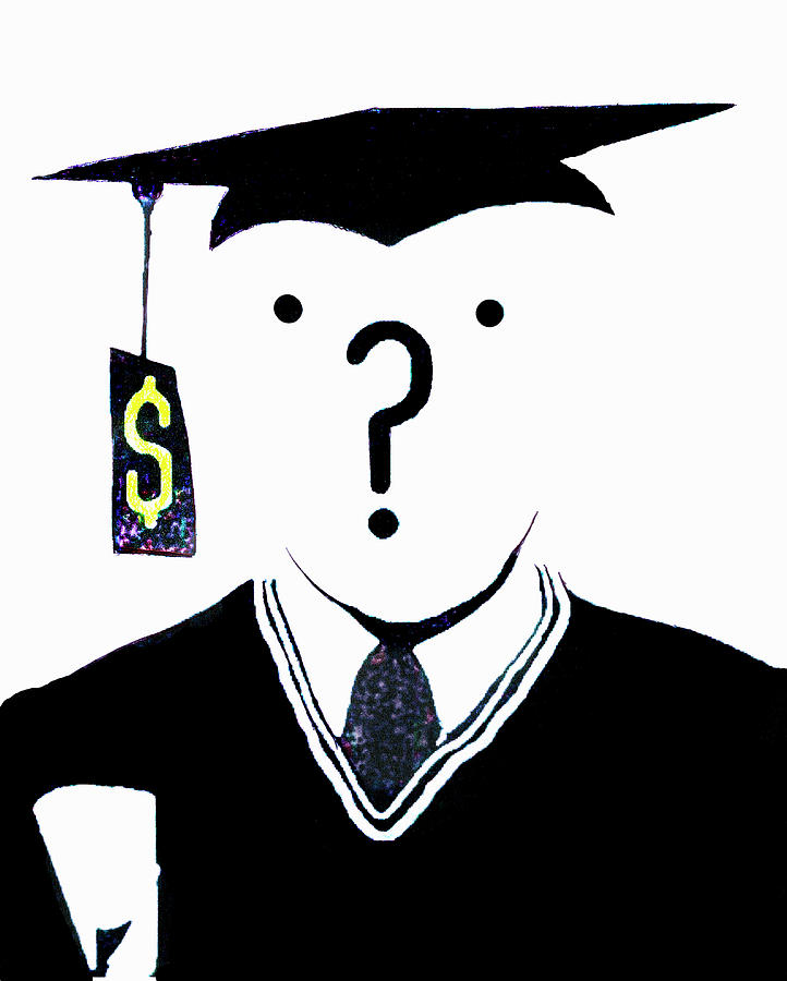 20s Photograph - Question Mark Over Face Of Graduate by Ikon Ikon Images