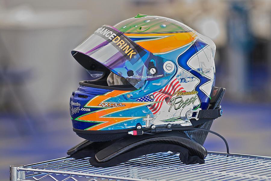 Auto Photograph - Racing Helmet 2 by Dave Koontz