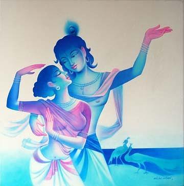 Radha Krishna Painting By Milind Shimpi