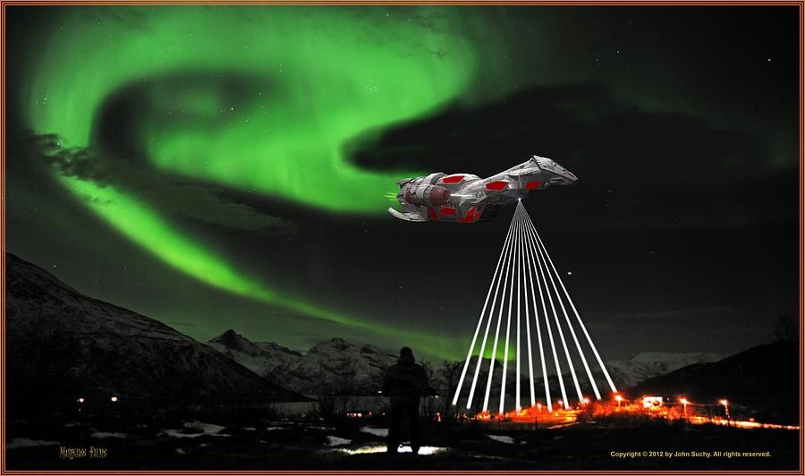 Space Opera Digital Art - Raider by John Suchy