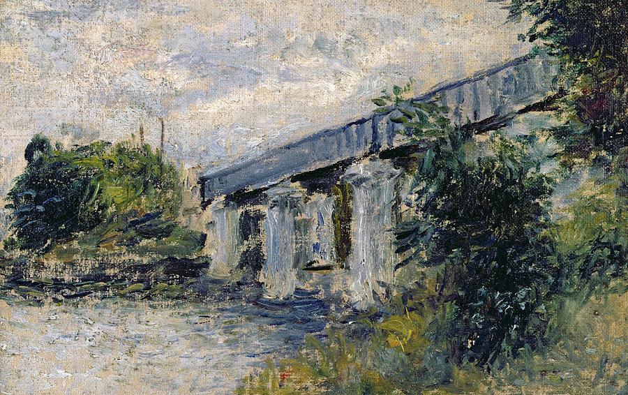 Railway Bridge At Argenteuil Painting - Railway Bridge At Argenteuil by Claude Monet