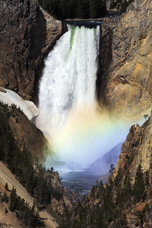 Rainbow At Lower Falls In  Grand Canyon Photograph by Duncan Usher