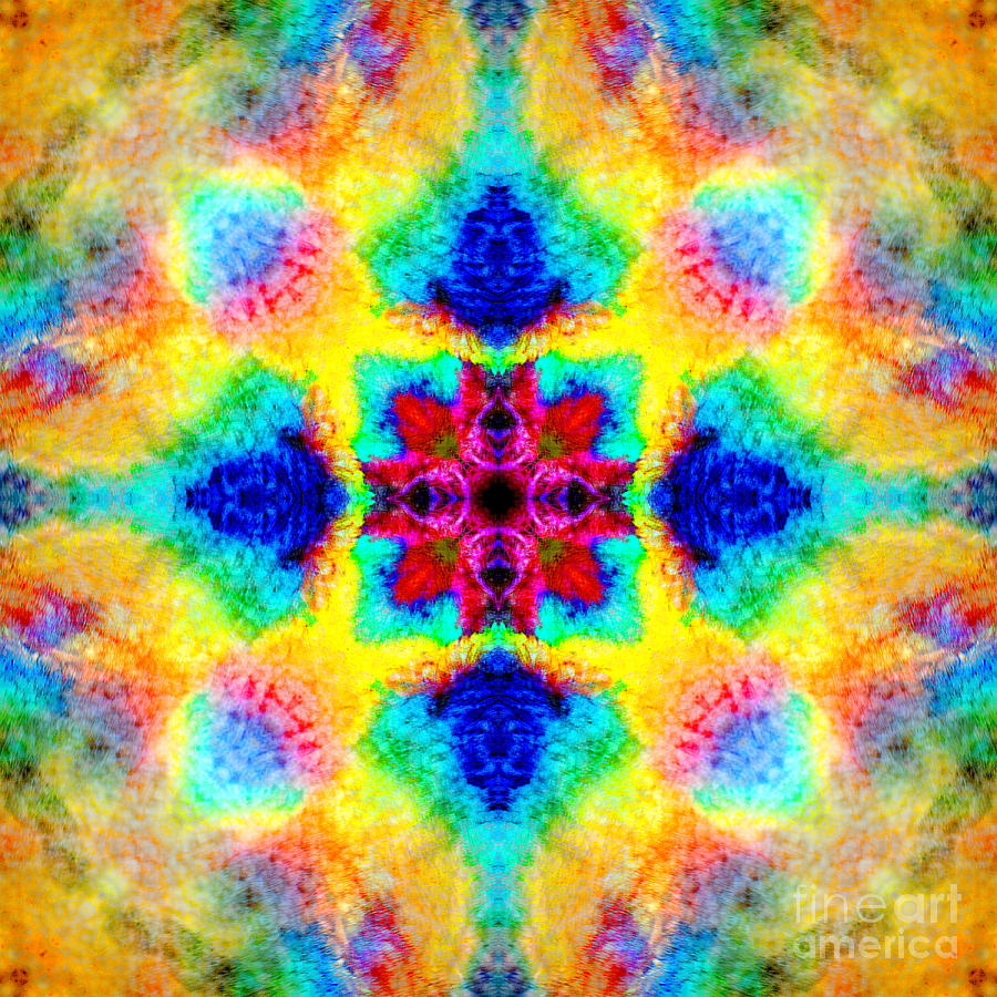 Rainbow Photograph - Rainbow Light Mandala by Susan Bloom