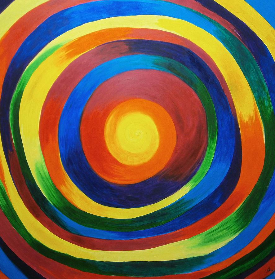 Rainbow Painting - Rainbow Vertigo by Drew Shourd