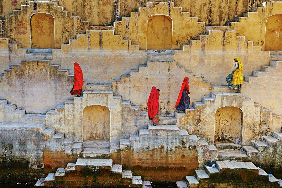 Rajasthan, Jaipur, Water Tank For Rain Photograph by Tuul & Bruno Morandi