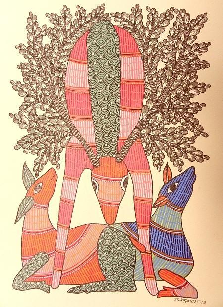 Raju 82 Painting by Rajendra Shyam