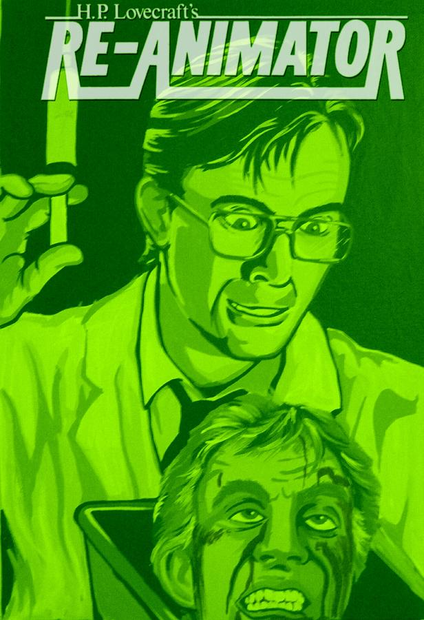Horror Painting - Re-animator by Gary Niles