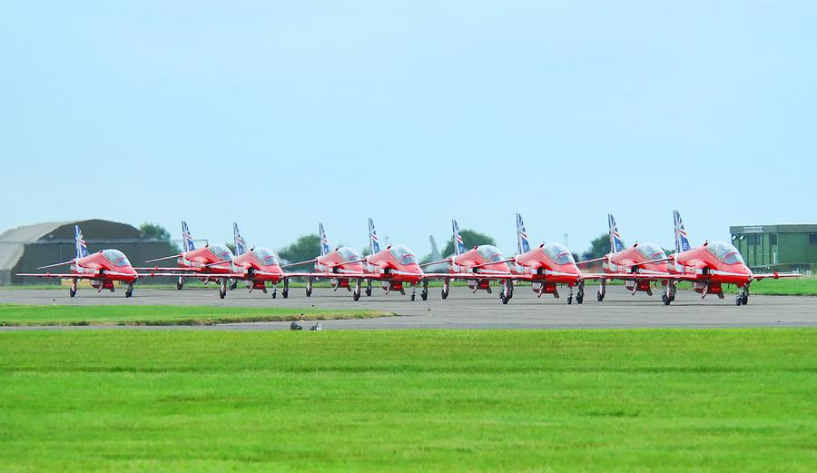 Red Arrows Photograph by James Lucas