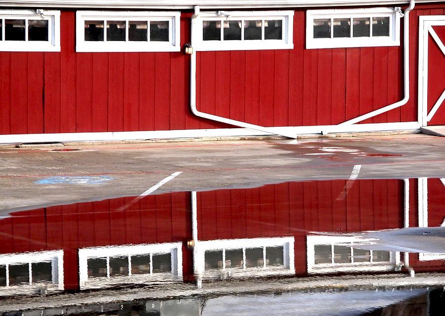 Red Barn Reflection 5022 2 Photograph