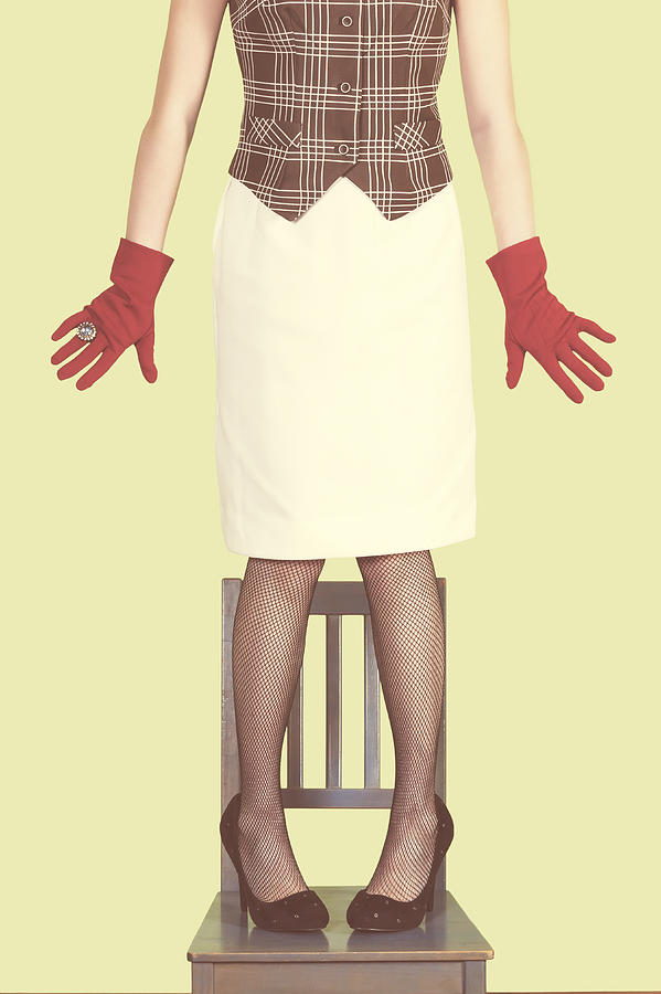 Woman Photograph - Red Gloves by Joana Kruse