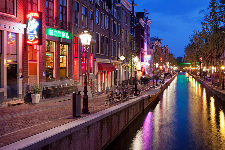 Amsterdam Photograph - Red Light District In Amsterdam by Artur Bogacki