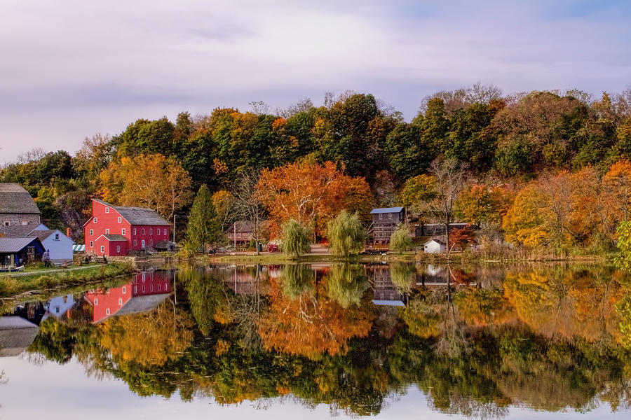 Red Mill In Clinton New Jersey Photograph