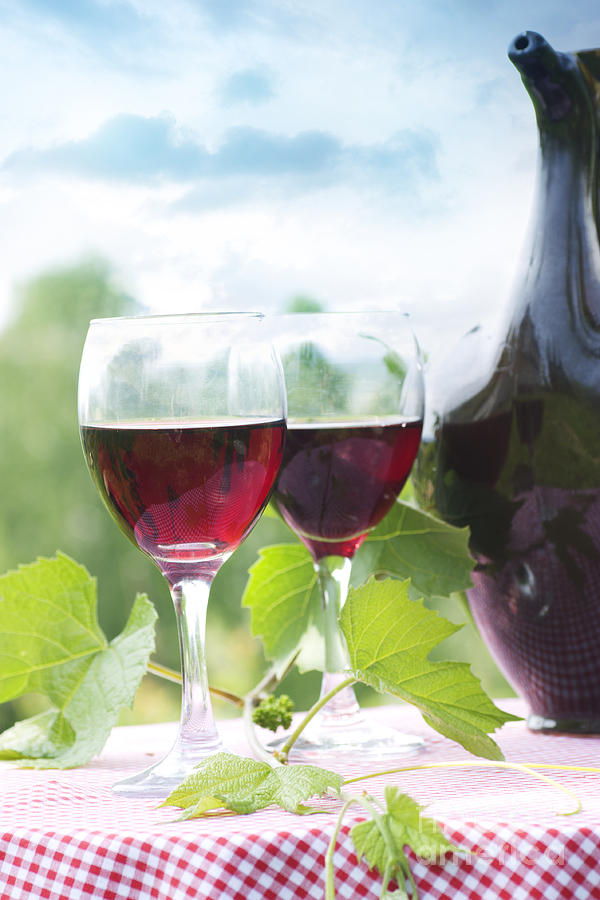 Alcohol Photograph - Red Wine by Mythja  Photography