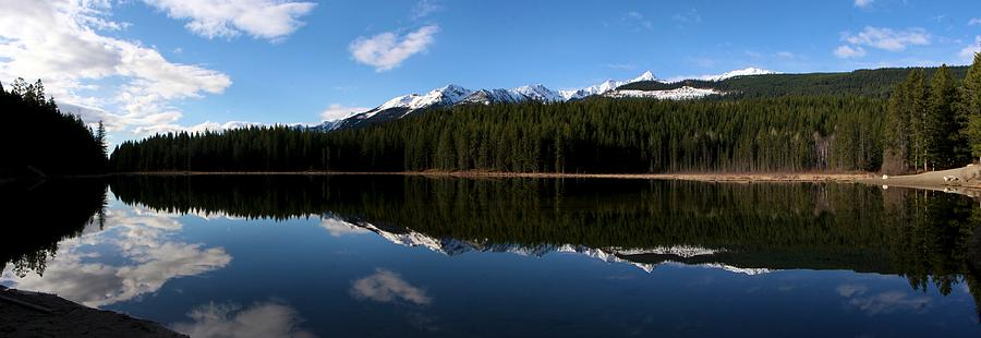 Reflection Bay - Jasper, Alberta - Panorama Photograph