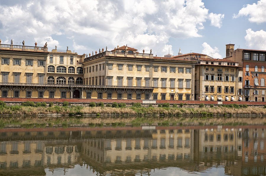 Arno Photograph - Reflections In The Arno River by Melany Sarafis