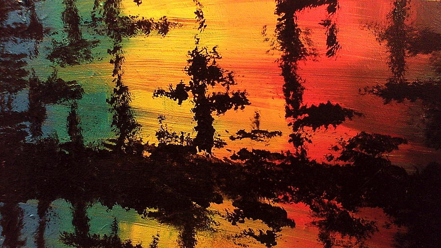 Abstract Painting Painting - Reflections by Lisa Williams