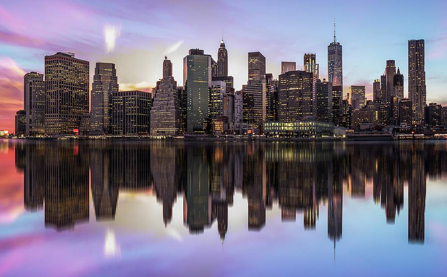 Usa Photograph - Reflections Of A Sleepless City by Rostislav Kralik
