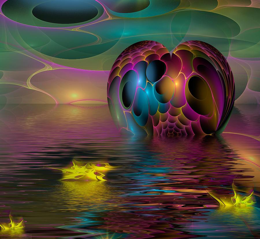 Space Digital Art - Reflections by Phil Sadler