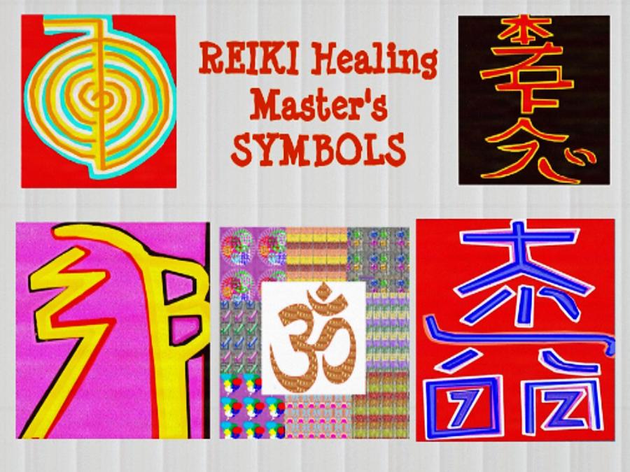 Reiki Healing Art Symbols Mantra Ommantra Background Designs And