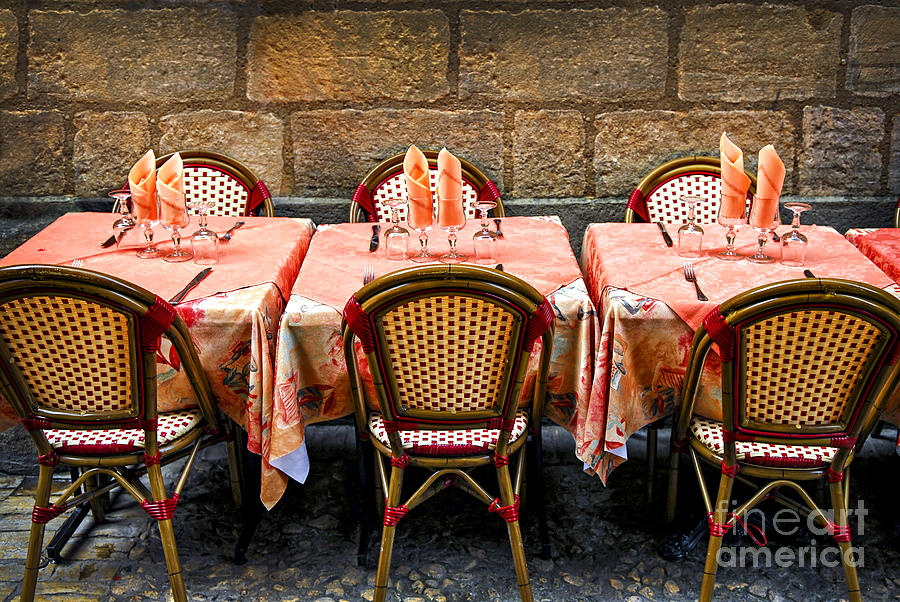 Restaurant Photograph - Restaurant Patio In France by Elena Elisseeva