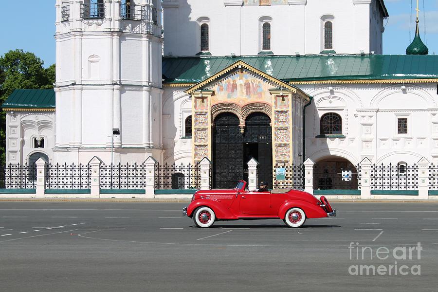 Vintage Photograph - Retro Car by Evgeny Pisarev