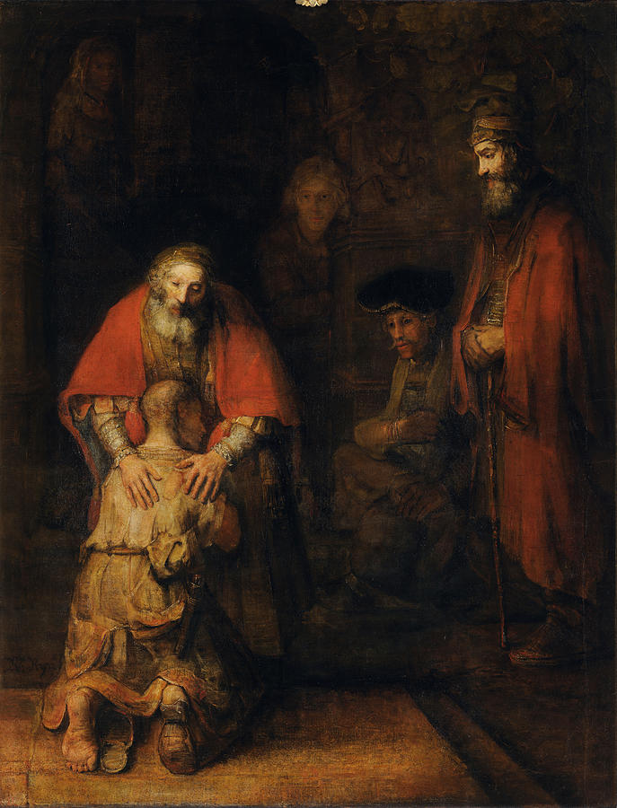 1665 Painting - Return Of The Prodigal Son by Rembrandt van Rijn