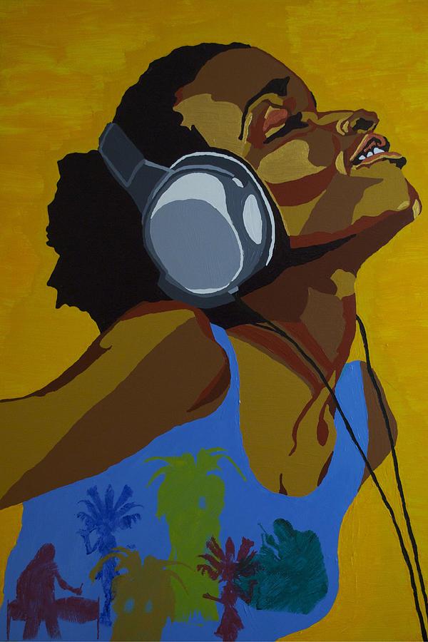 Acrylic Painting - Rhythms In The Sun by Rachel Natalie Rawlins