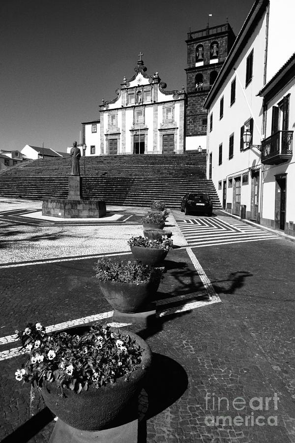 Plaza Photograph - Ribeira Grande by Gaspar Avila