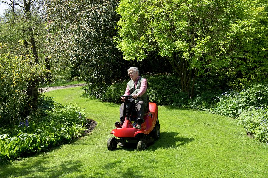 Lawn Mower Photograph - Ride-on Lawn Mower by Sheila Terry