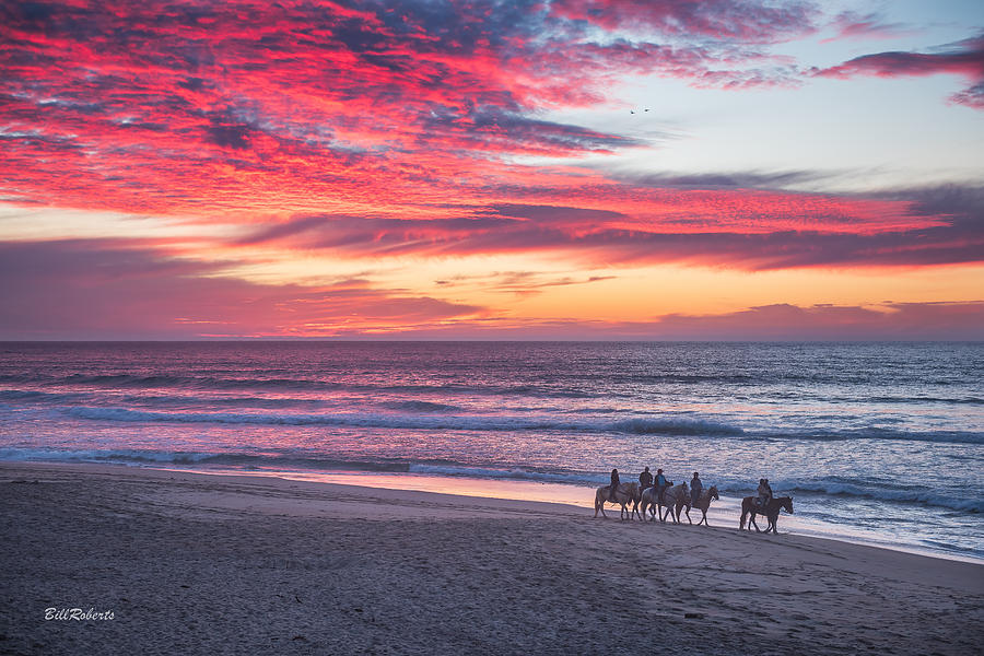 Central California Coast Photograph - Riding In The Sunset by Bill Roberts