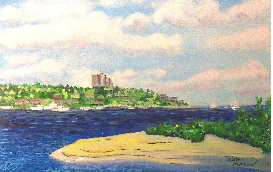 River Meets Bay Painting by Rich Mason
