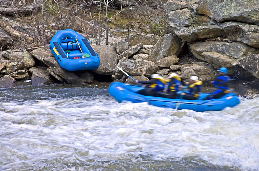 Sport Photograph - River Rafting by Susan Leggett